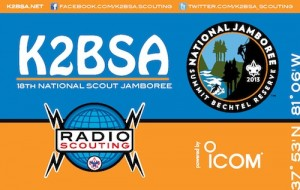 QSL card for the K2BSA National Scout Jamboree 2013