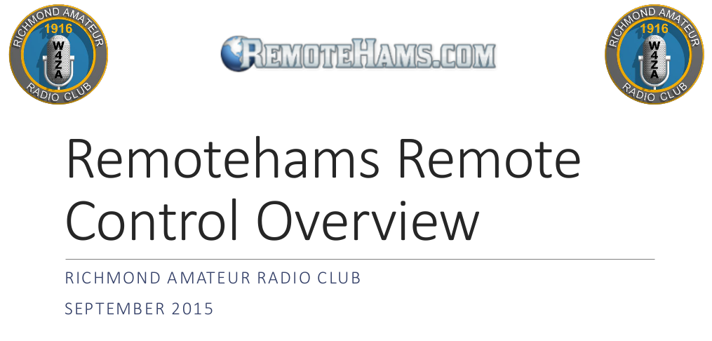 RemoteHams Presentation 2015 Screenshot